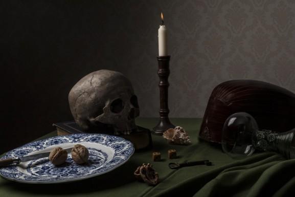 Skull on Book