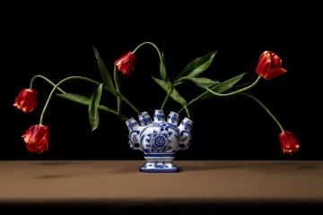 Crazy Tulips in Delftware